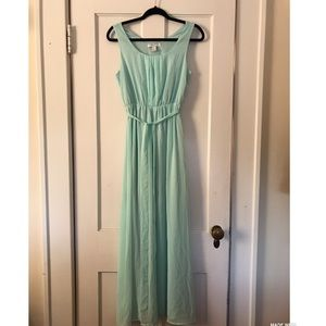 Forever 21 long mint colored dress